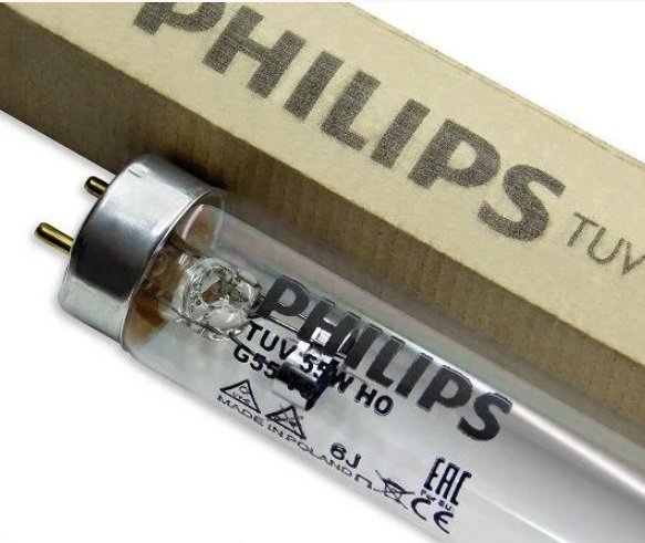 Лампа бактерицидная промышленного очищения воды Philips TUV 55W G13 HO 908mm