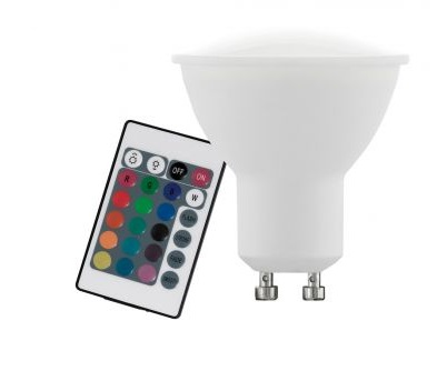 Лампа LED Eglo 10687 4W RGB 220V GU10 Dimmable ПДУ (набор 3 шт.)
