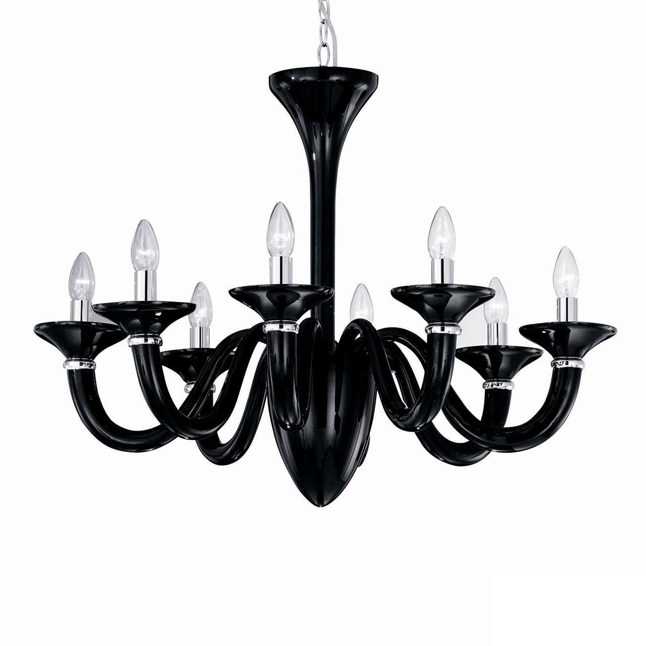 Люстра Ideal Lux 20518 White Lady SP8 Nero